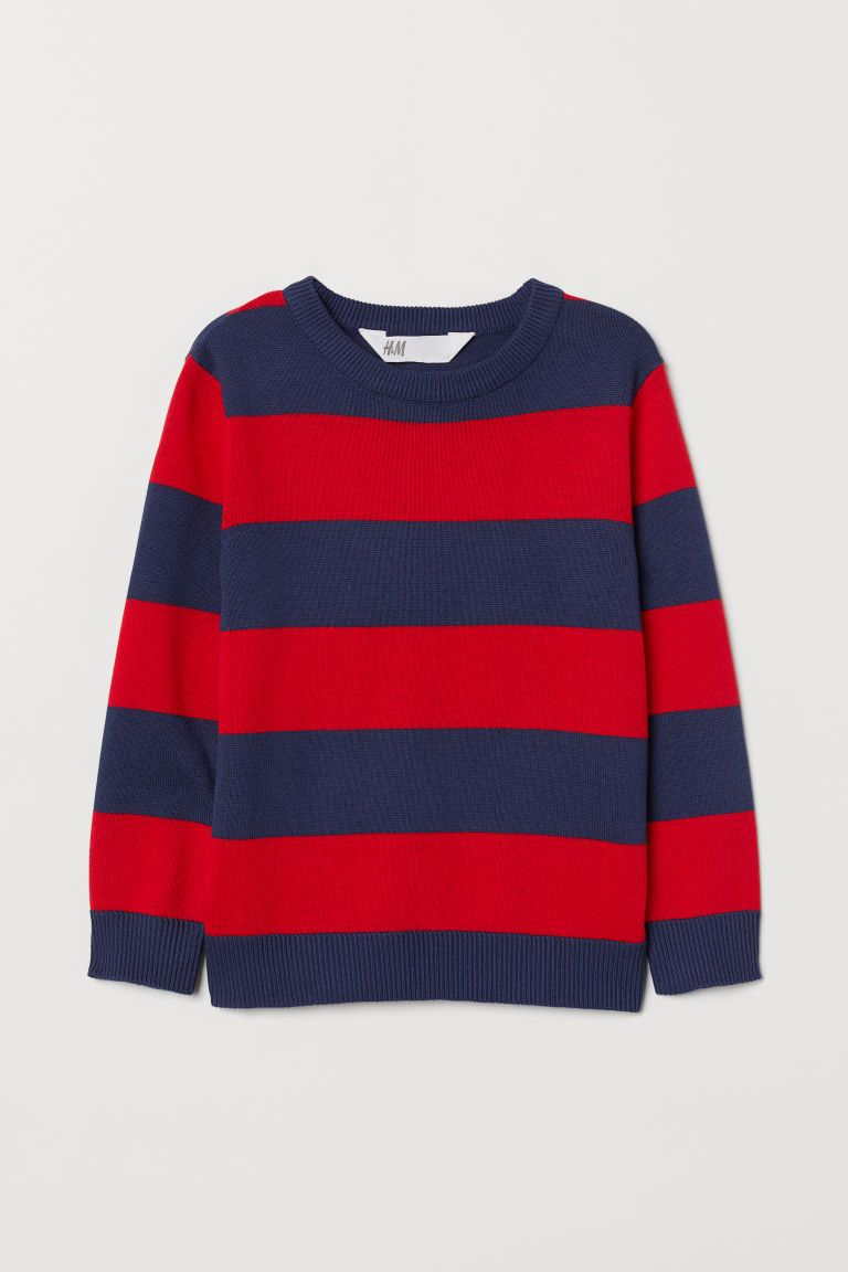 Stripe Sweater Knit Jumper Retro Jumper Red White Blue Sweater Vintage Jumper Mod Jumper White with Red and Blue Stripe UK Small