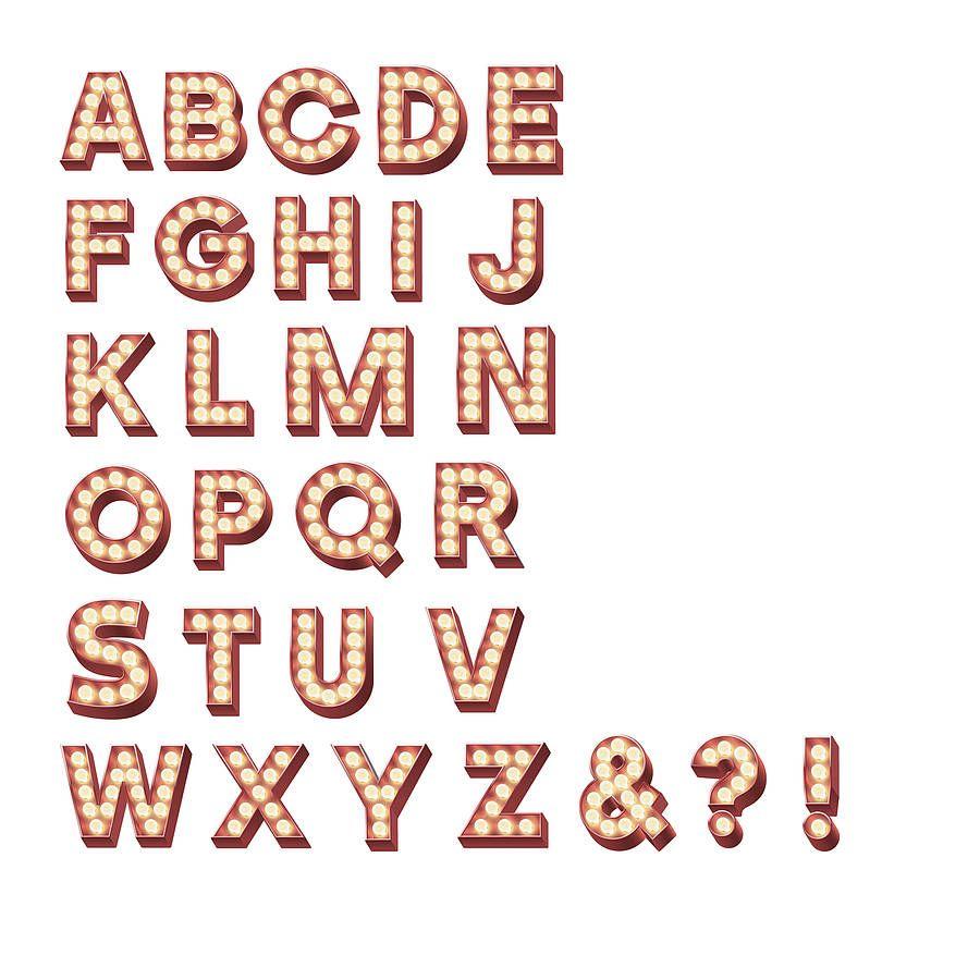 retro cinema marquee letters wall sticker marquee With cinema marquee letters