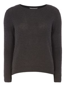 Petite charcoal cable jumper
