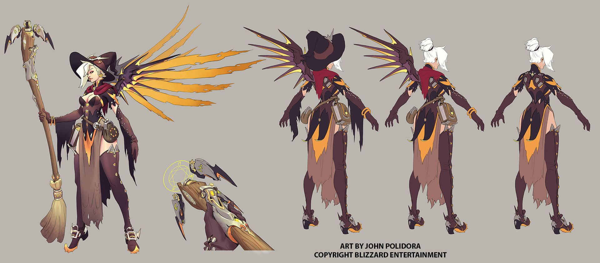 ArtStation - Witch mercy Concept, John Polidora