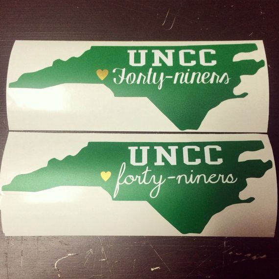 Uncc Custom Decal By Antiquelyyours On Etsy College Pinterest