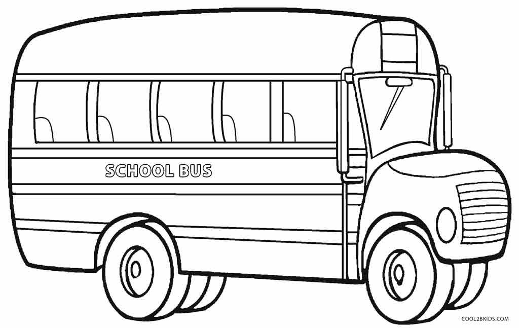 School Bus Coloring Pages Kindergarten Coloring Pages School