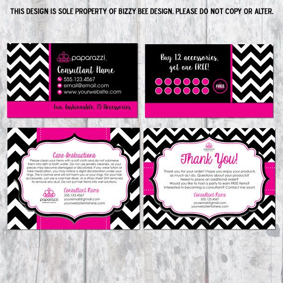 Paparazzi sales bundle with business card thank you and my paparazzi sales bundle with business card thank you and jewelry care instructions colourmoves Choice Image