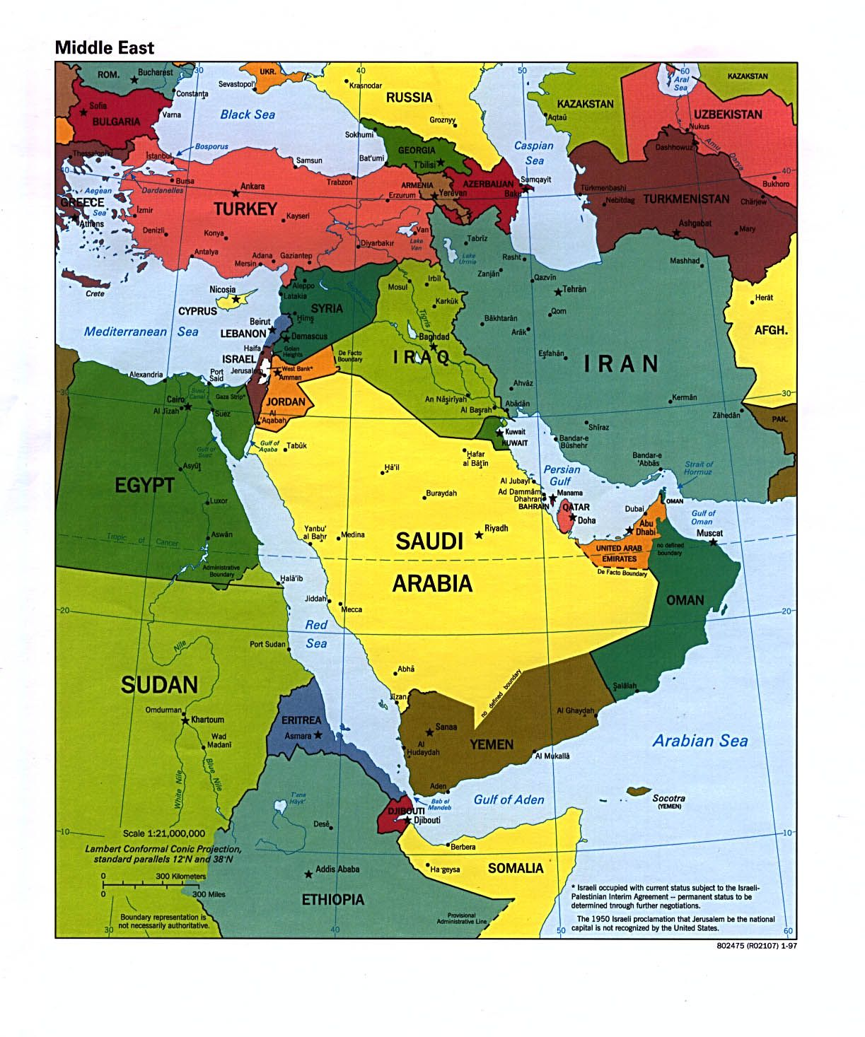 Middle East And Central Asia Was Where Russia Was Active