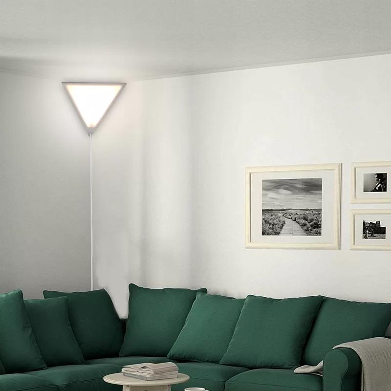 Home Concept Beacon Triangle 1 Light Plug In Corner Wall Light Reviews Wayfair In 2020 Living Room Lighting Living Room Corner Cool Floor Lamps