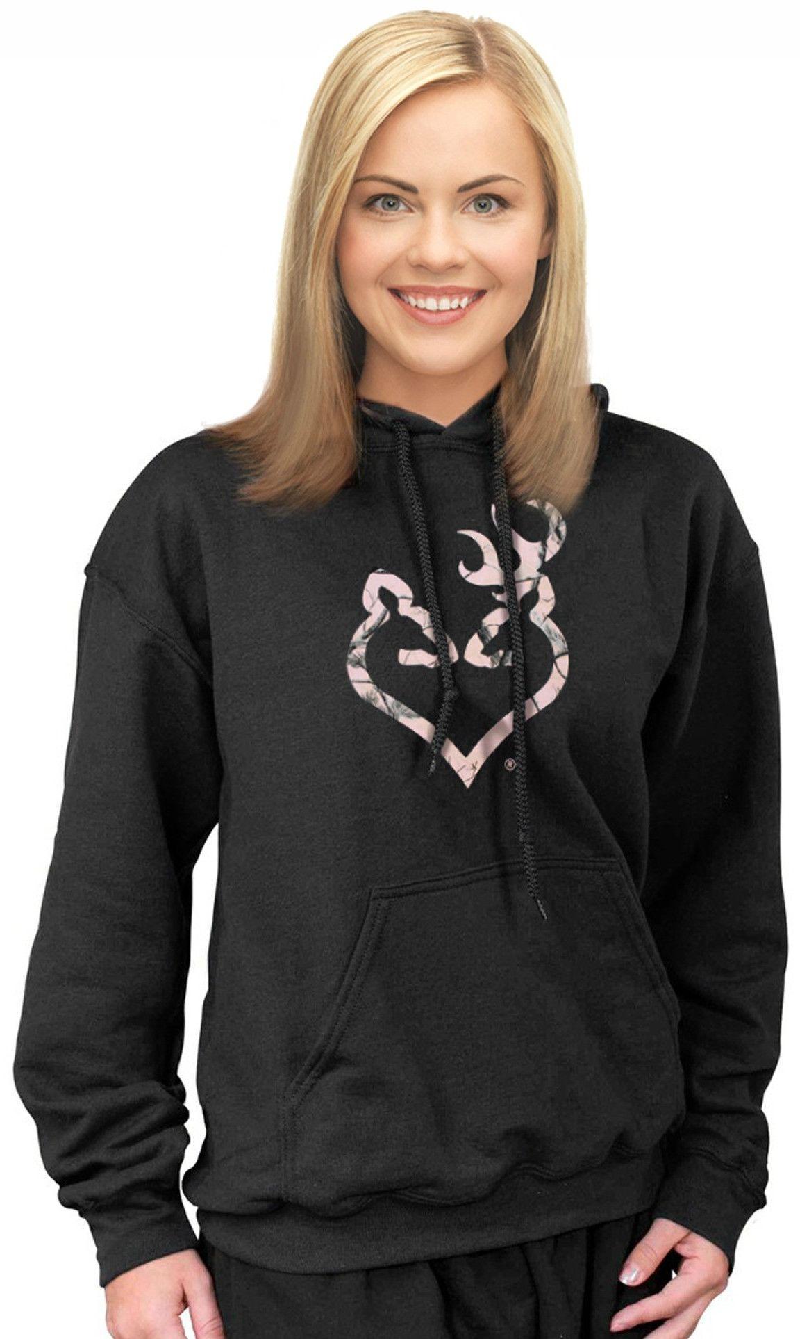 e72d4b9a11e0e Pink Camo Hoodie Plus Size Camo For Women Browning Buckmark Buckheart – Camo  Chique