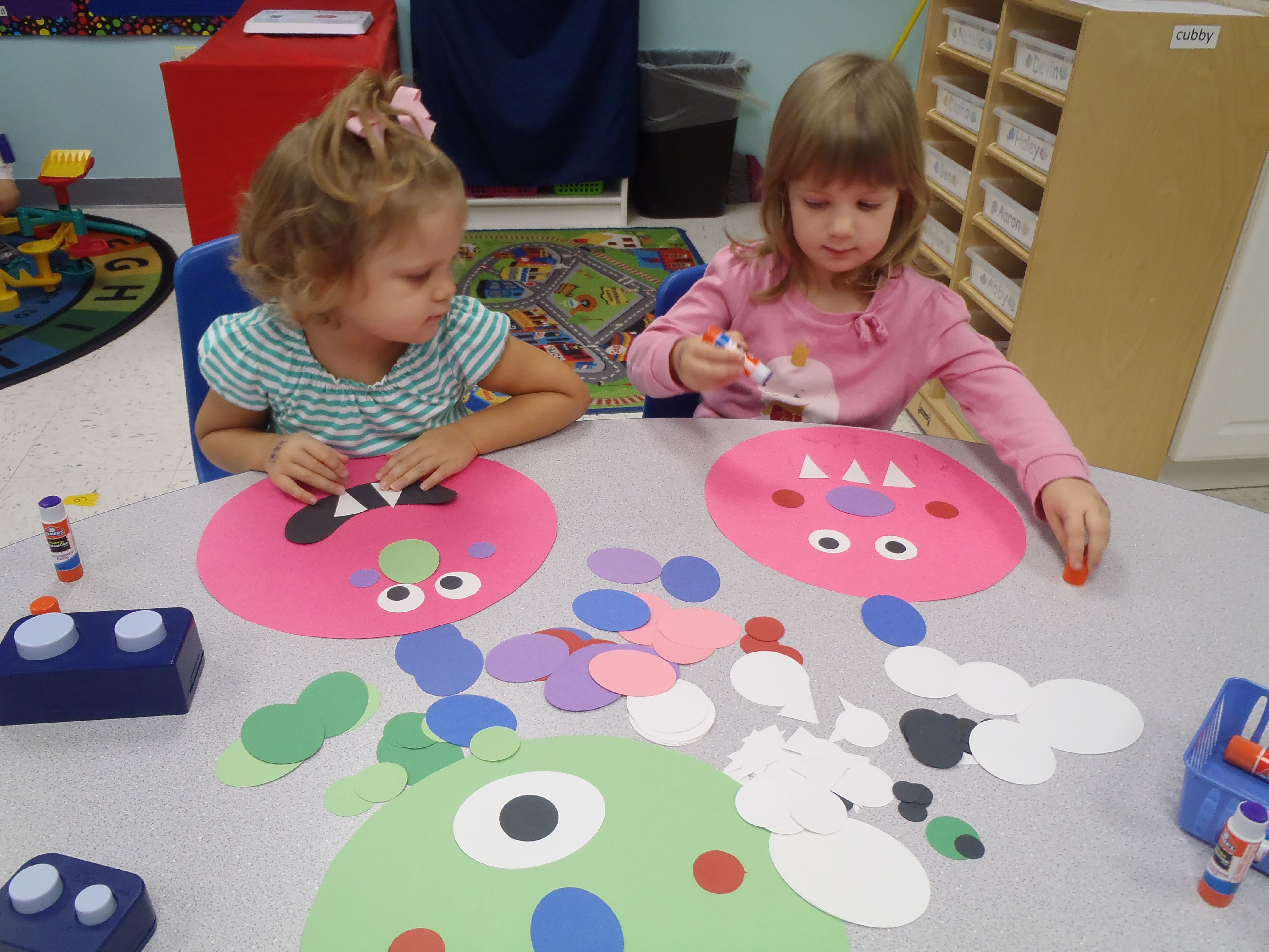 M Is For Monster Letter Craft In The 4 Year Old Class