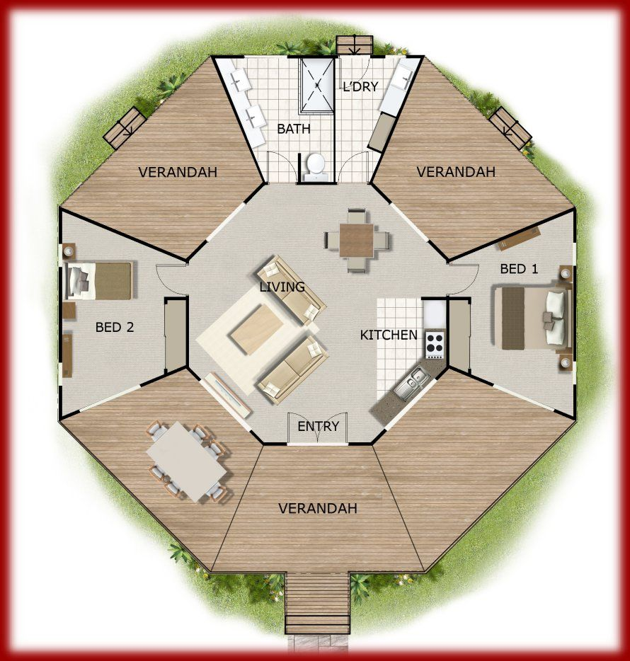 Home office floor plans granny flat guest quarters Guest house house plans