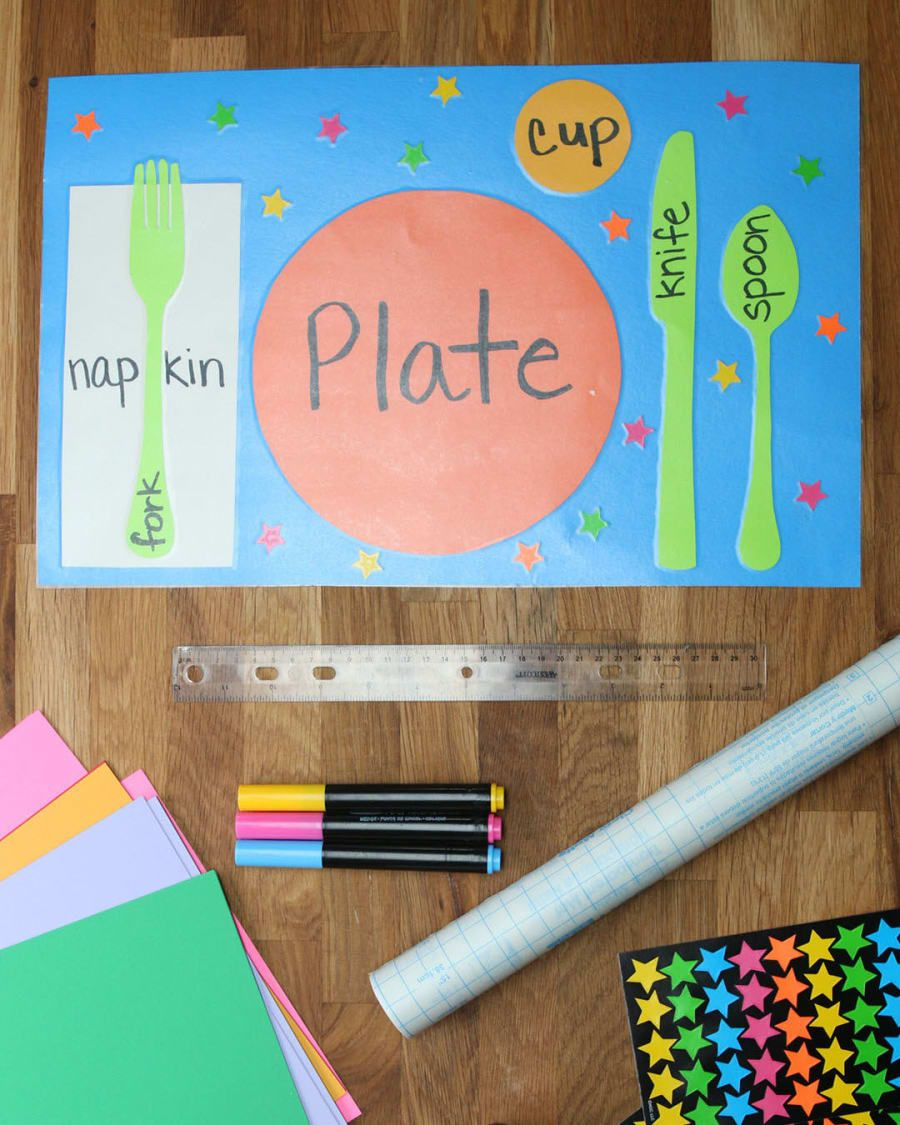 DIY Table Setting Placemats Manners for kids, Manners