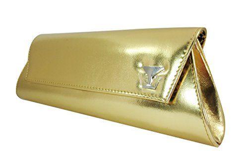 ec8f616accb Rockabilly Pin-up Shiny Cocktail Clutch Purse (Gold) Doll ...