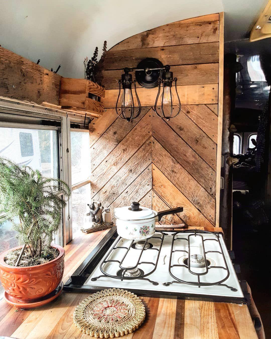 ~~Sunny Kitchen Vibes~~ • • • • • #skoolie #schoolbus