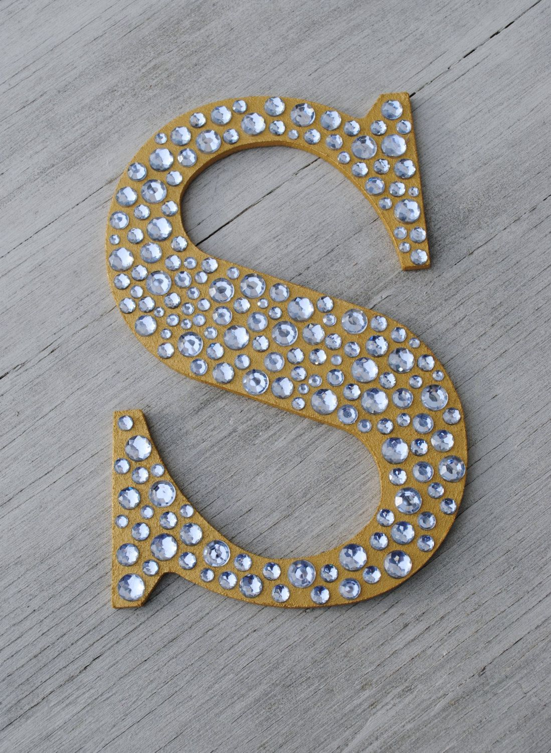 """Decorative Letters For Wall 9"""" sparkle gold bling decorative wall letters, wedding decor"""