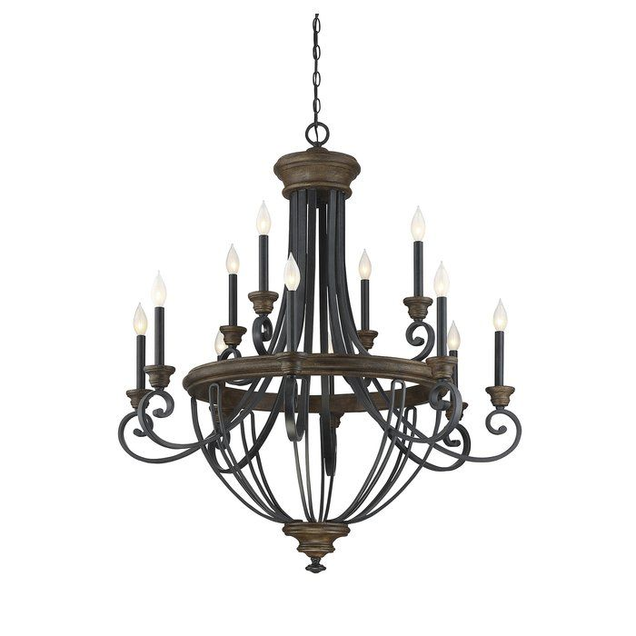 Nanteuil 12 Light Candle Style Empire Chandelier Chandelier Lighting Wood Chandelier