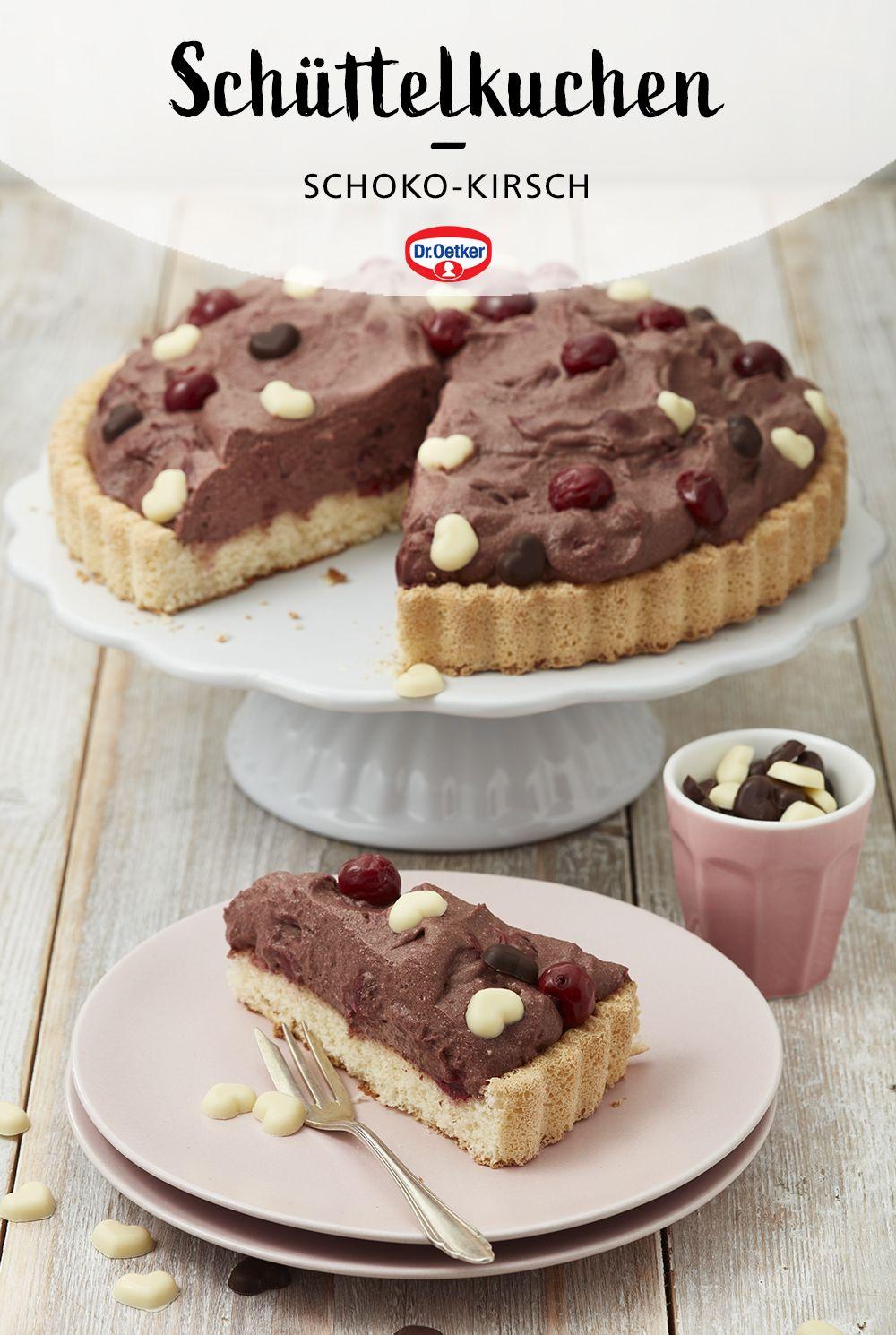 Schuttelkuchen Schoko Kirsch Rezept In 2020 Schuttelkuchen Kuchen Buffet Backzutaten