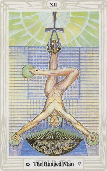 The Hanged Man - tarot de Thoth painted by Lady Frieda Harris according to  instructions from Aleister Crowley | Tarot, Arcanos maiores, Arte escura