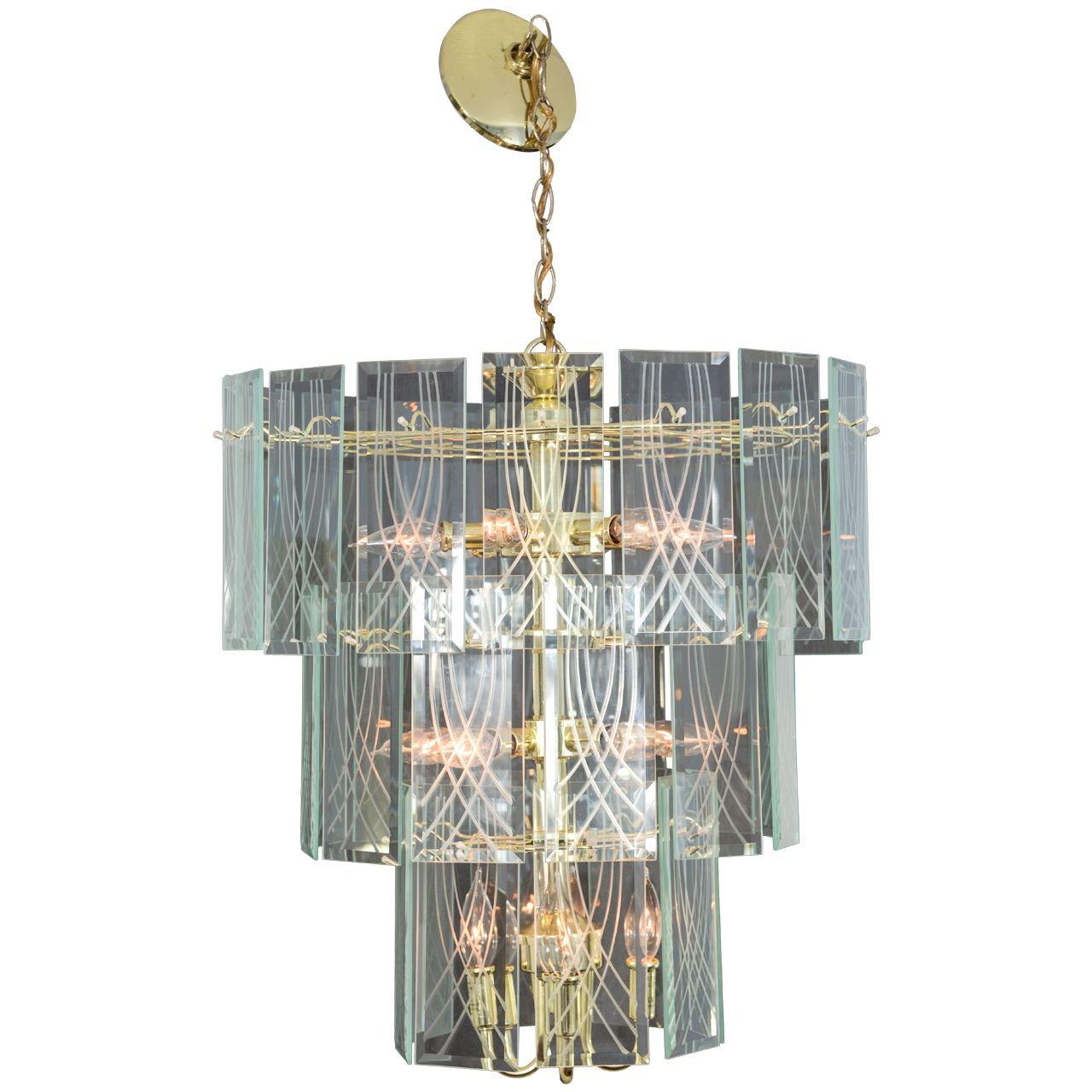 1970 S Vintage Three Tier Chandelier From A Unique Collection Of
