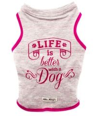 Camiseta Rosa e Cinza
