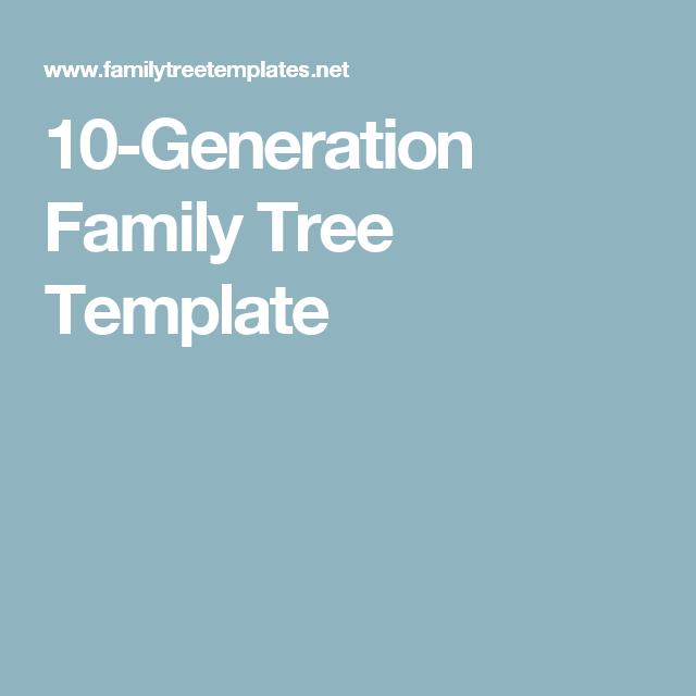 10 generation family tree template