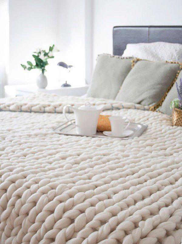 mantas confortables diy fácil tejer principiante deco style estilo ...
