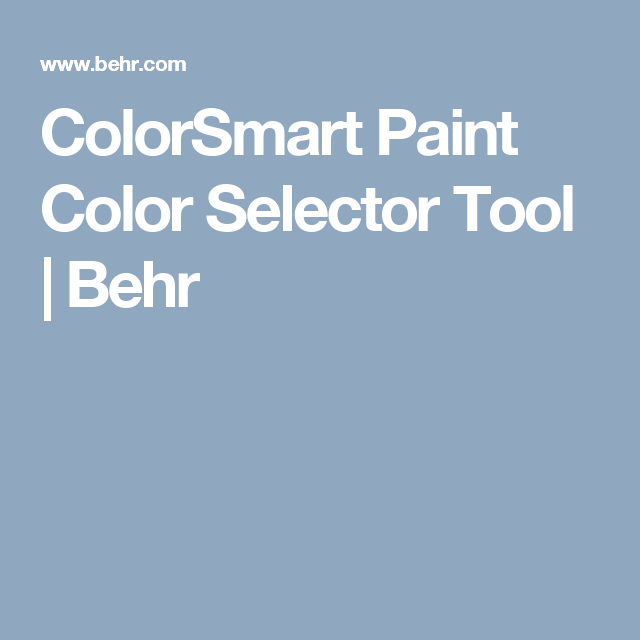 colorsmart paint color selector tool behr paint color on behr paint visualizer id=16433