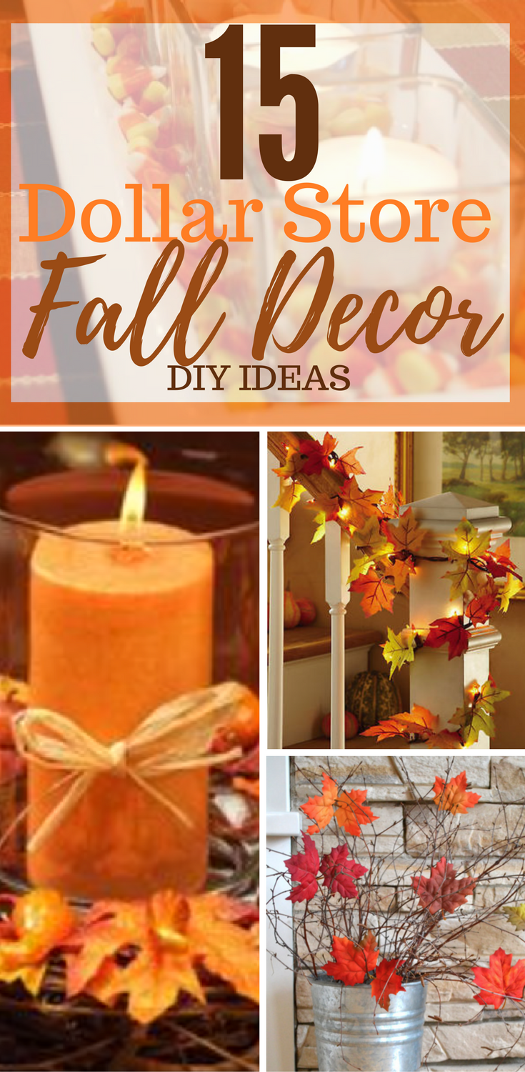 15 Dollar Store Fall Decorations DIY You'll Be Sure To