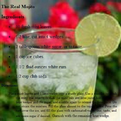 The REAL mojito by healthy living valparsaiso healthy recipes  https://www.facebook.com/pages/Healthy-Living-Valparaiso-Healthy-Recipes/338462199550190