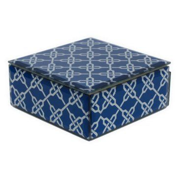 5x5 Decorative Pattern Glass Box (One King's Lane)