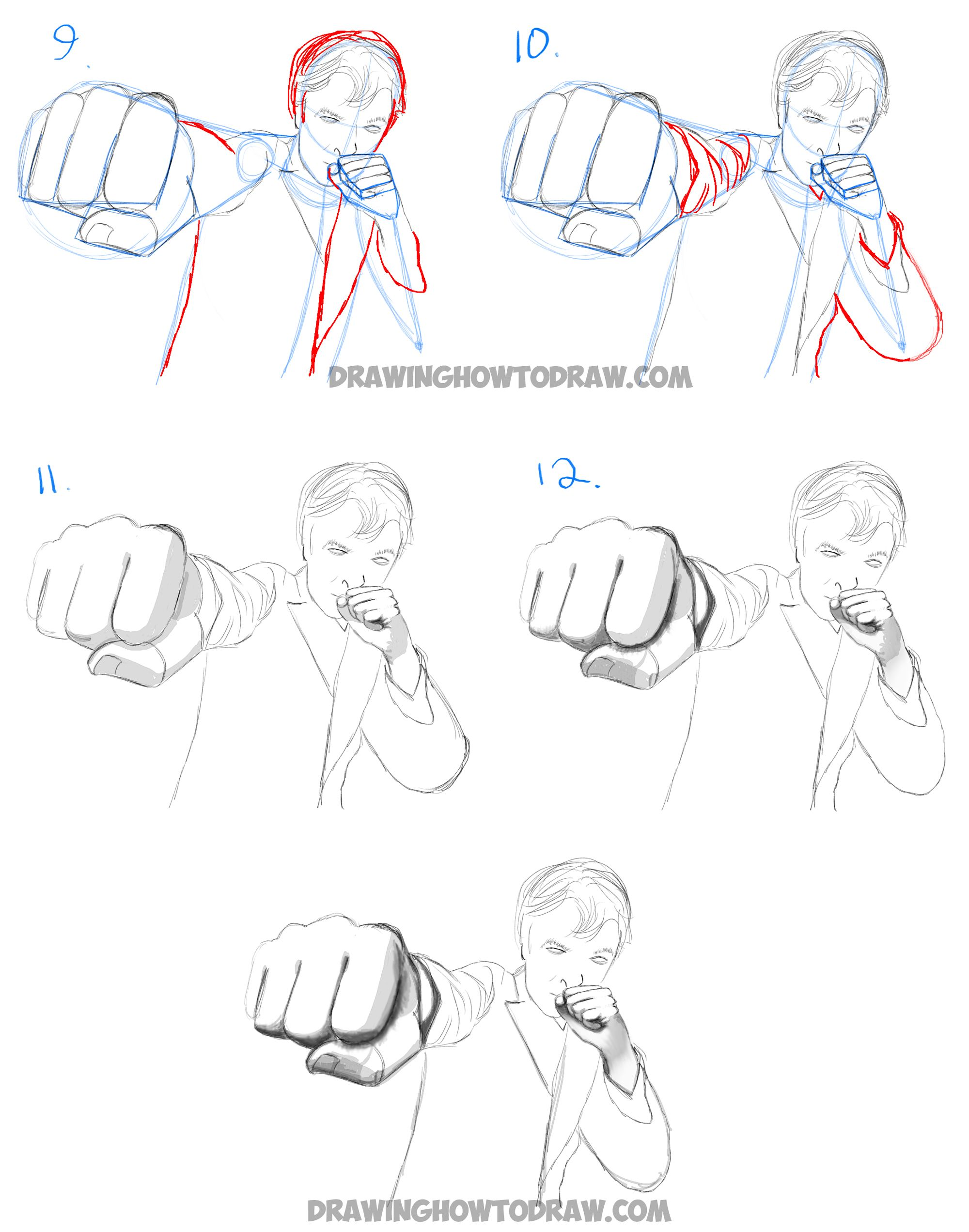 How To Draw Foreshortened Hands And Fists