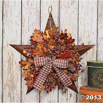 Autumn Nautical Swag For Door | Autumn Leaves Barn Star, Barn Stars, Home  Decor