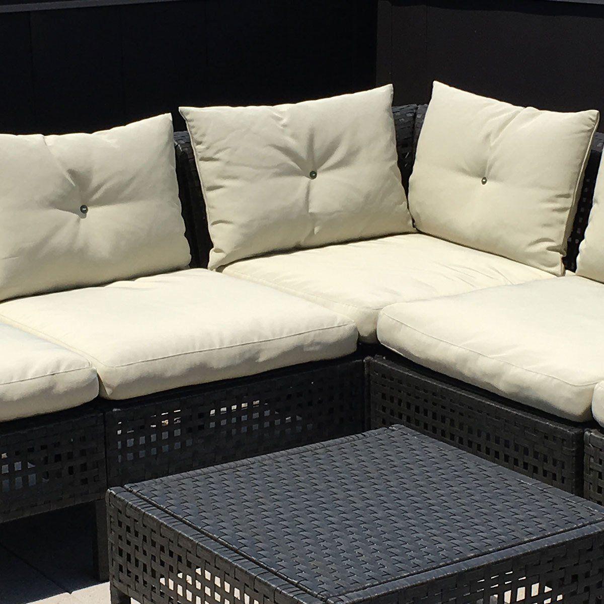 Ikea Hacks Add Ties To Outdoor Furniture Cushions Outdoor