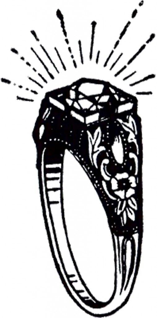 Vintage Diamond Ring Clip Art Graphics fairy Clip art and Vintage