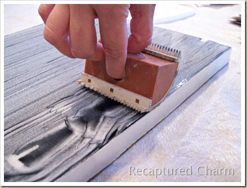 How To Use A Wood Graining Tool Wood Concrete Wood Floor Faux Wood