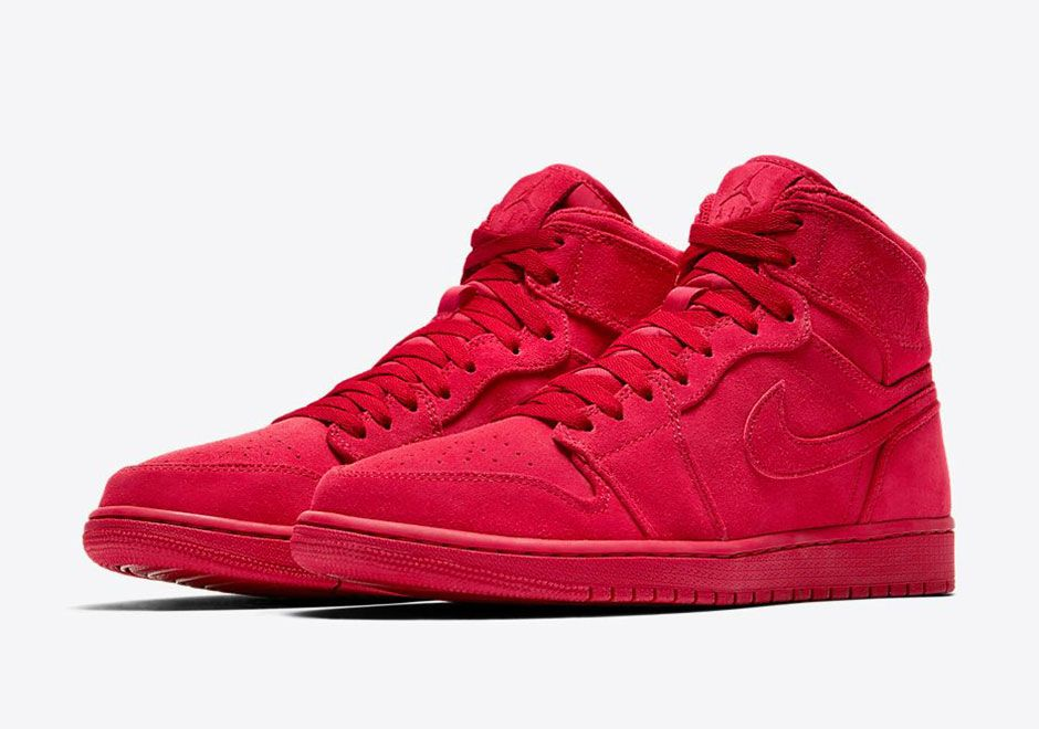 suede air jordan 1 blue and red
