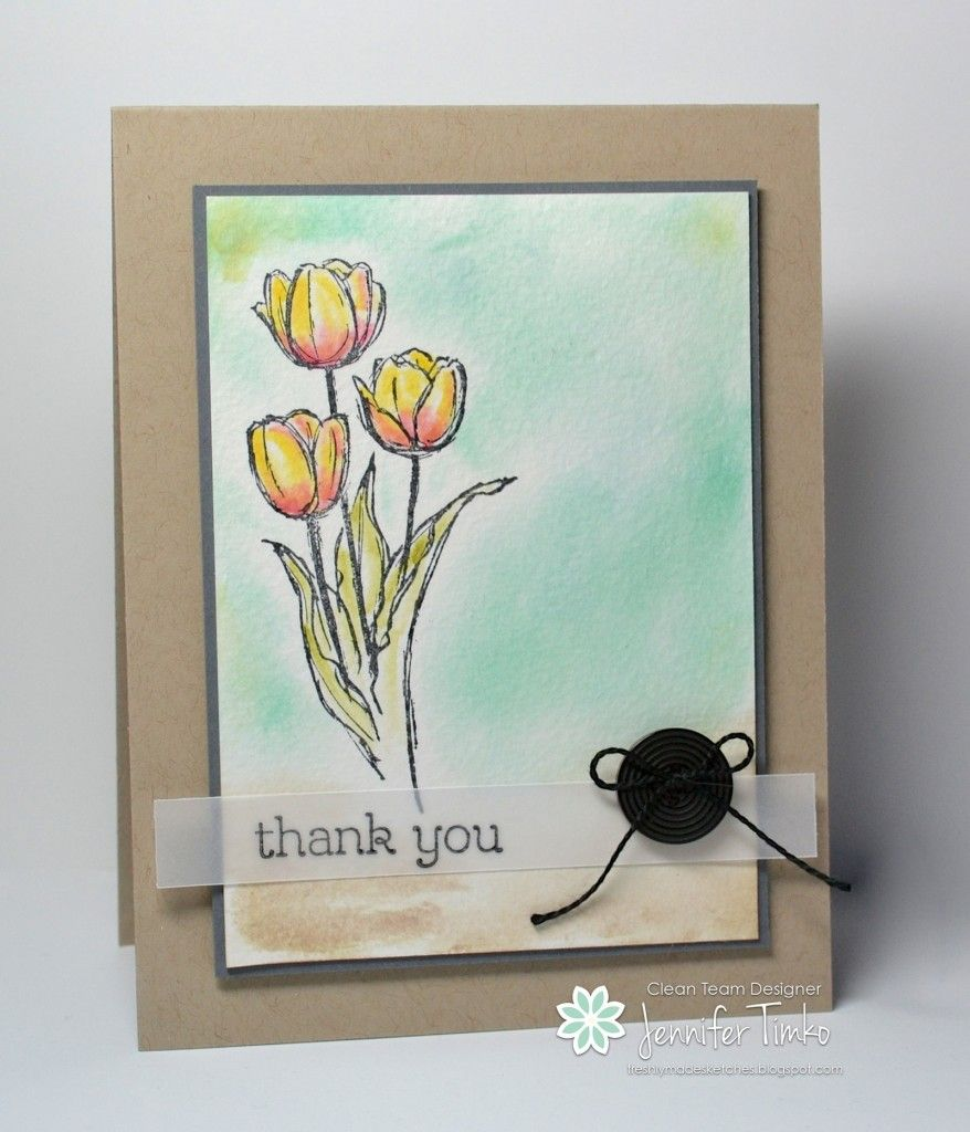 Stampinu up blessed easter fms watercolor tulips others