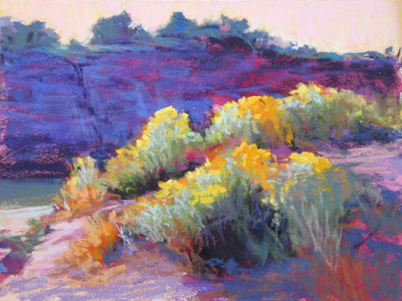 Chama Chamisa Pastel On Ampersand Pastelboard Pastel Landscape Pastel Painting Painting
