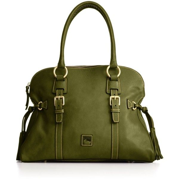 Dooney & Bourke Handbag, Florentine Domed Buckle Satchel ($398) ❤ liked on Polyvore