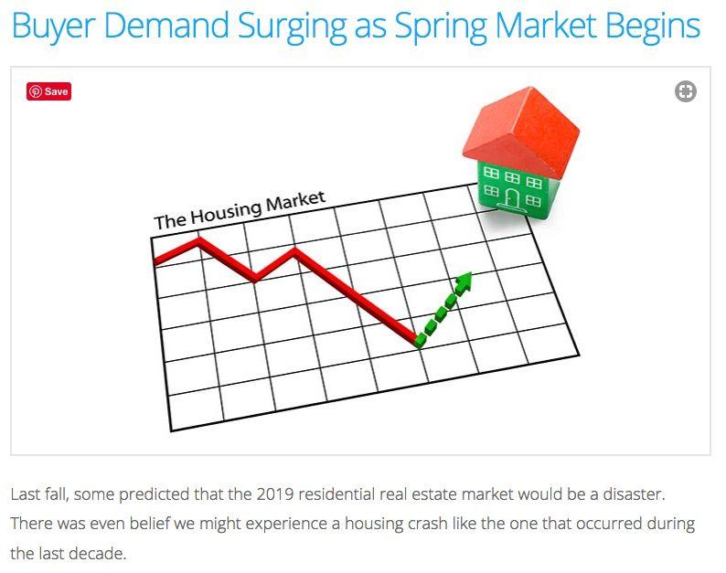Spring Market Begins Buyer Demand Surging Buyers Home Ownership Marketing