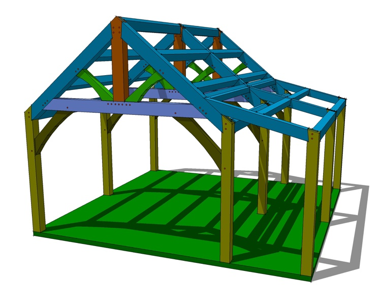20x20 Timber Frame Plan Barn plans, Barn style shed