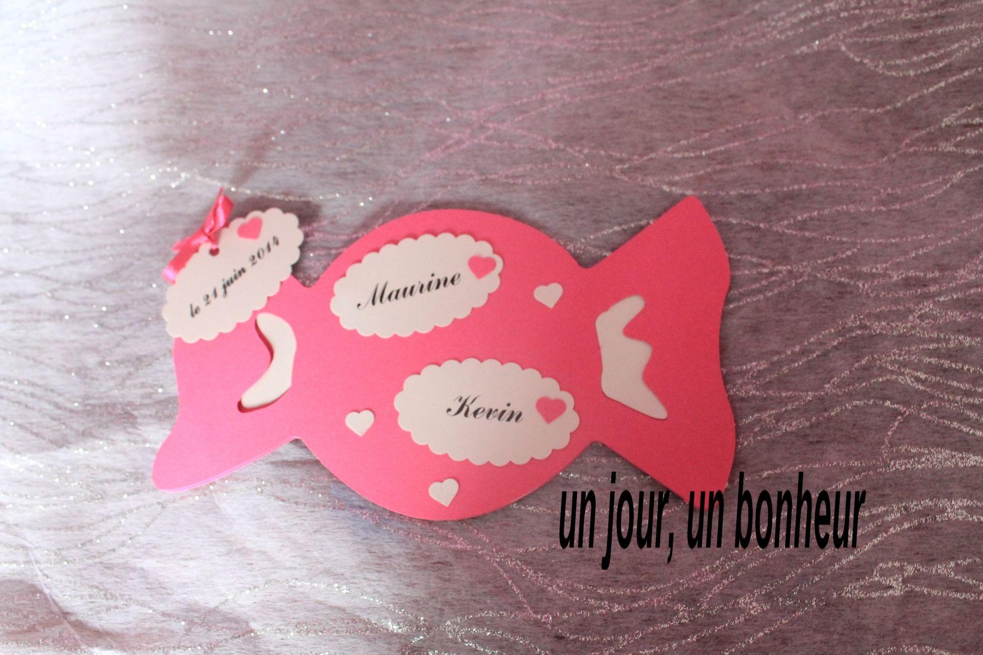 Faire Part Mariage Bonbon Thème Gourmandise Faire Part Par