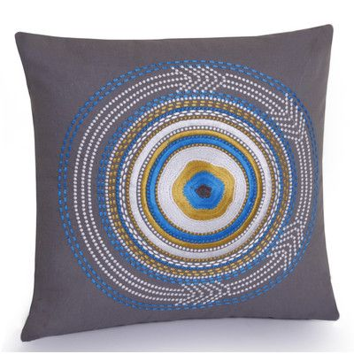 Jovi Home Rimini Hand Embroidered Cotton Throw Pillow