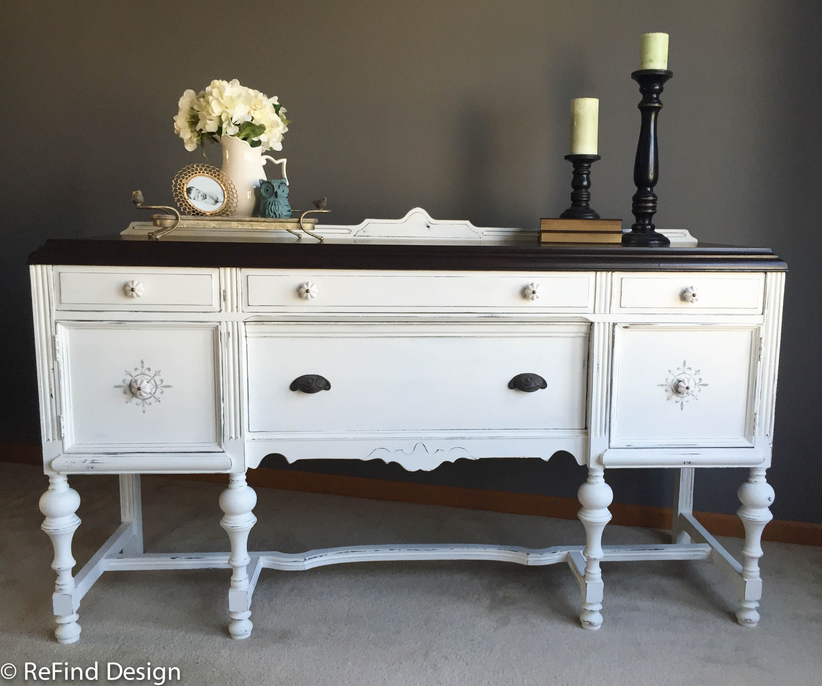 Rockford Superior Furniture Company Buffet Painted In Cece