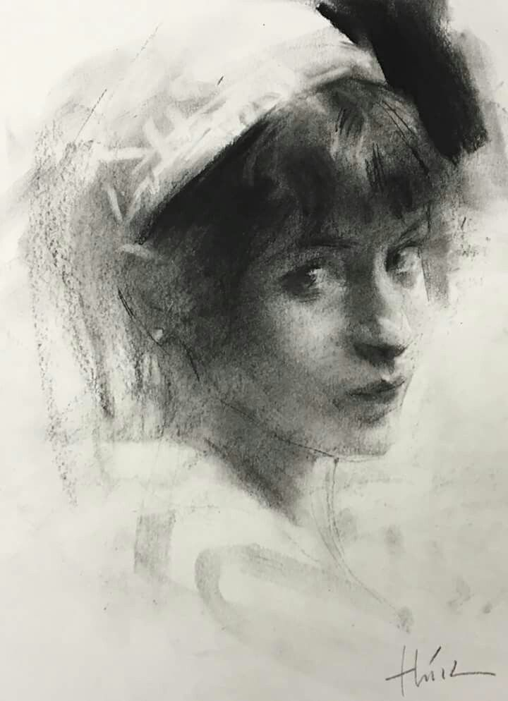 Sorry I Can T Make Out The Name Of The Artist Portraiture Artist Portrait Drawing Charcoal Art