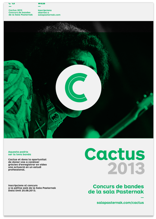 Cactus Music Band Contest by Quim Marin, via Behance