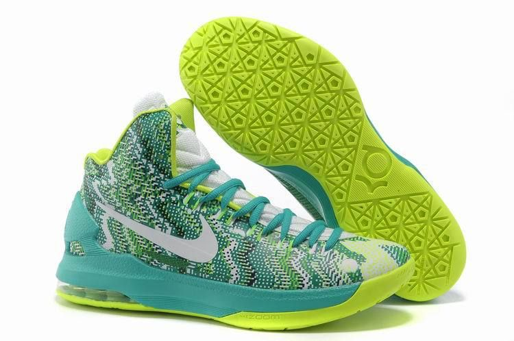 wholesale dealer aea88 9e4f8 Nike Zoom KD V Christmas Womens Tiffany Blue Lime Green Volt 554988 048    59.66