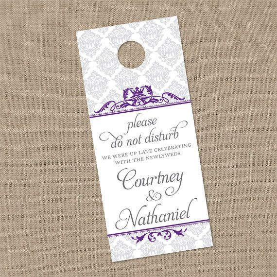 25 Custom Vintage Damask Wedding Guest Door by melinayingling, $21.25