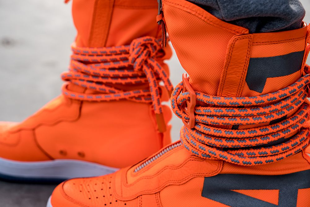 bbb77e4afef3 Latest Pickup  Nike SF Air Force 1 High Boot Total Orange