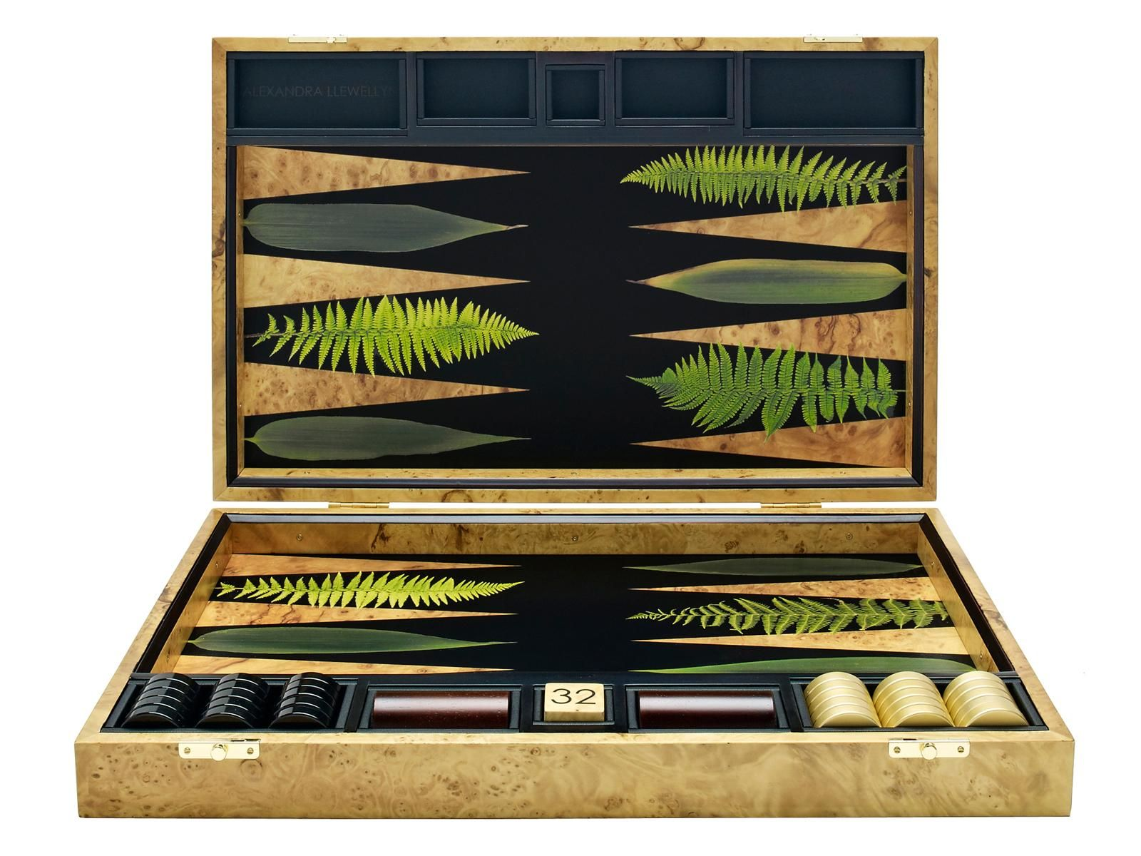 Leaf backgammon board black backgrounds the oujays and products