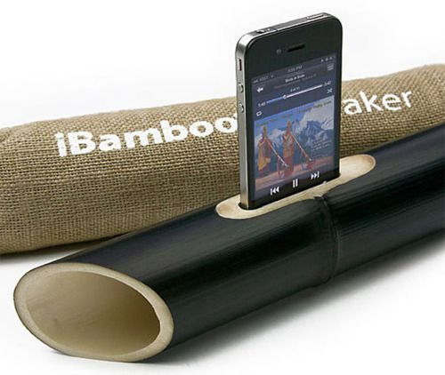iBamboo speaker? This is nothing but rad.