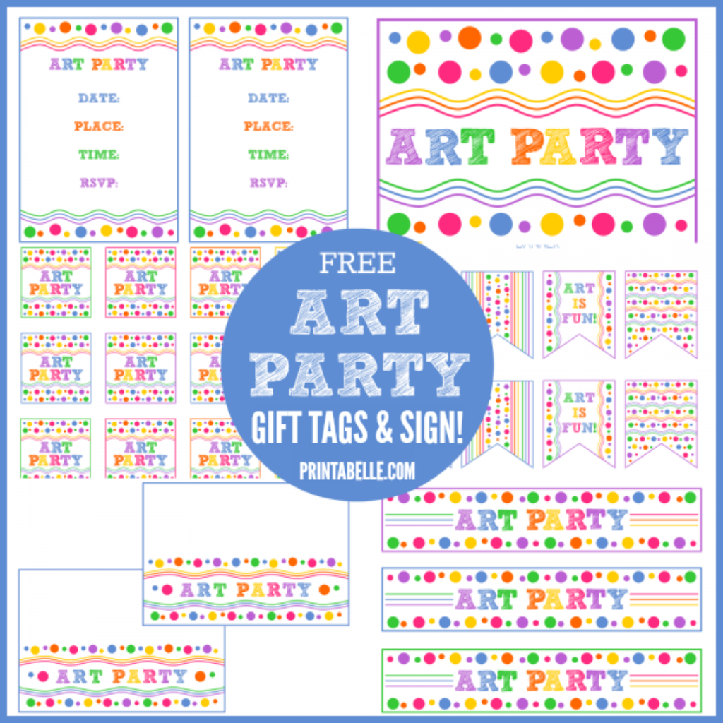 Paint Party Free Art Party Printables