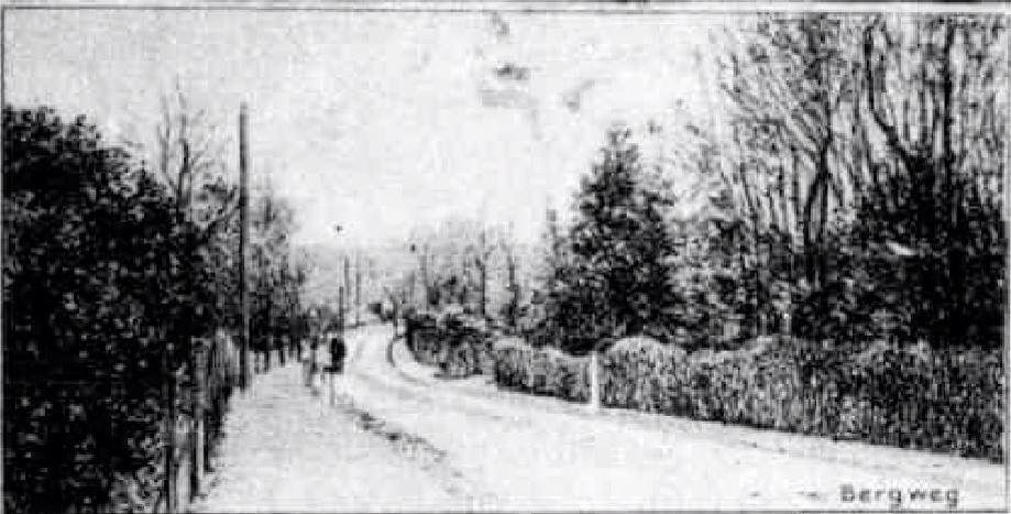 Bergweg, Hilversum rond 1903/1904
